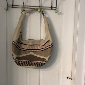 American Eagle Outfitters Bags - Canvas bag with Navaho type pattern w/brass rings